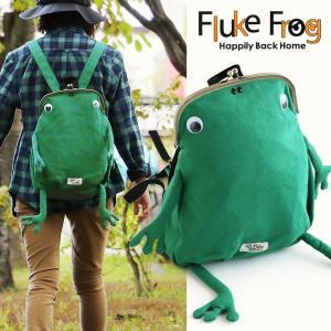 リュック バッグパック バッグ 鞄 カバン がま口 カエル スウェット A4サイズ 背面ファスナー  メンズ|mr-lunberjack