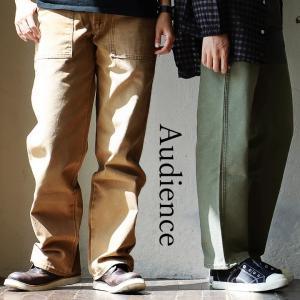 Audience ファティーグパンツ ミリタリー ワーク 無地 チノパン スタンダード コットン 日本 シンプル カジュアル M メンズ|mr-lunberjack