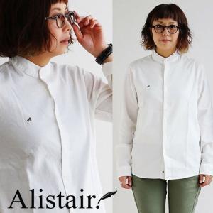 シャツ 長袖 バンドカラー ストレッチ オックス 配色 刺繍 メンズ レディース ALISTAIR|mr-lunberjack