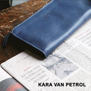 長財布 ウォレット L字ファスナー 小銭入れ付き 真鍮 無地 本革 イタリアンカウレザー イタリア カジュアル メンズ  Kara Van Petrol|mr-lunberjack