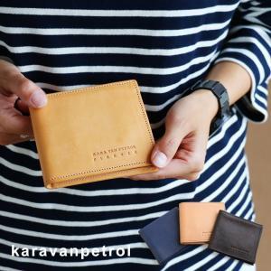 二つ折り財布 ウォレット 無地 二つ折り財布 イタリアンカウレザー 本革 イタリア カジュアル メンズ  Kara Van Petrol|mr-lunberjack