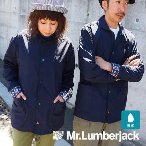 Mr.Lumberjack コーチジャケット カラフル スナップボタン 丸襟 マスクマン リブ メンズ レディース mr-lunberjack