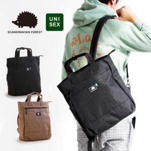 SCANDINAVIAN FOREST トートバッグ リュック 2WAY BAG かばん 鞄 ワンポイント ポリエステル  メンズ カジュアル|mr-lunberjack