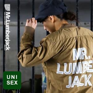 トップス シャツ 長袖 シャツジャケット スリム MA-1 タイプ ジャケット 比翼  バック 配色 メンズ   Mr.Lumberjack mr-lunberjack