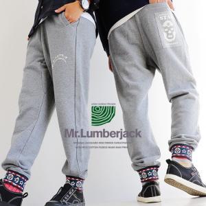 パンツ ジョグ イージー テーパード マスクマンリブ × リメイク風 プリント 14オンス 米綿 メンズ レディース  Mr.Lumberjack|mr-lunberjack
