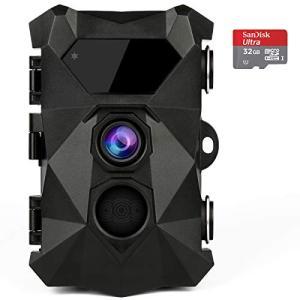 トレイルカメラ 防犯カメラ ABASK 業界唯一の2.7K 2020年発売 超高画質 2000万画素 監視カメラ 屋外防犯カメラ 人感センサ|mr-m