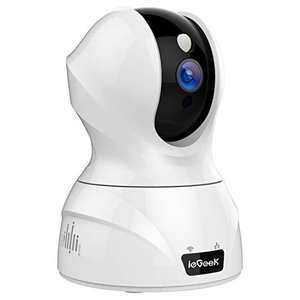 最新WiFi強化改良版ieGeek ネットワークカメラ 300万画素 自動追跡 顔認識 1536P ペット留守 監視カメラ WiFi スマホ|mr-m