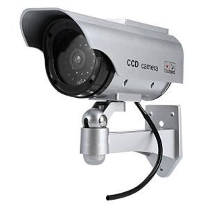 太陽光パネル搭載で半永久的に使用可能 防犯 ダミーカメラ LED 常時点滅で不審者を追い出す|mr-m