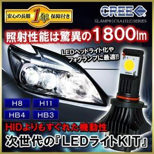 CREE製 LEDヘッドライト 1800lm   適合車種 H8 H11 HB4 HB3形状  セッ...