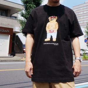 全3色 ブッシュクラン BUSH CLAN Tシャツ FUNK BEAR 2PAC S/S Tee ファンクベア 2パック ホワイト ブラック ベージュ|mr-vibes