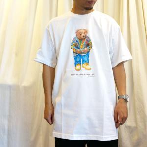 全2色 ブッシュクラン BUSH CLAN Tシャツ FUNK BEAR BIGGIE S/S Tee ファンクベア ビギー ホワイト ブラック|mr-vibes