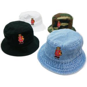 別注 全4色 ブッシュクラン BUSH CLAN バケットハット MJ BEAR BUCKET HAT ブラック ホワイト カモ ライトデニム|mr-vibes