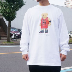 全2色 ブッシュクラン BUSH CLAN ロンT Tシャツ FUNK BEAR MJ BEAR L/S Tee ファンクベア ホワイト ブラック|mr-vibes