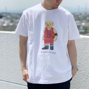 全2色 ブッシュクラン BUSH CLAN Tシャツ FUNK BEAR MJ BEAR HEAVY WEIGHT S/S Tee ファンクベアー クマ ホワイト ブラック ヘビーウェイト|mr-vibes