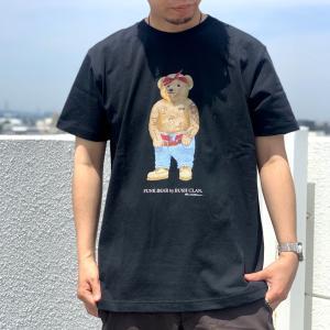 全2色 ブッシュクラン BUSH CLAN Tシャツ FUNK BEAR 2PAC HEAVY WEIGHT S/S Tee ファンクベア 2パック ホワイト ブラック|mr-vibes