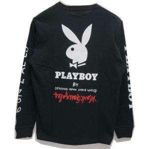 マークゴンザレス MARK GONZALES ロンT Tシャツ GONZ×PLAY BOY L/S Tee プレイボーイ 長袖 ブラック 黒 BLACK 2G7-5320 mr-vibes