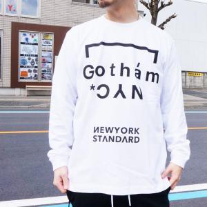 ゴッサム GOTHAM ロンT Tシャツ ORIGINAL LOGO L/S Tee ホワイト WHITE 白 ブラック 黒 BLACK 長袖 GN618 mr-vibes