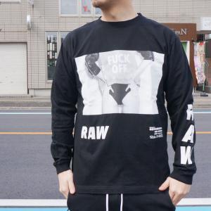 ゴッサム GOTHAM ロンT Tシャツ RAW  L/S Tee ホワイト WHITE 白 ブラック 黒 BLACK 長袖 GN612 mr-vibes