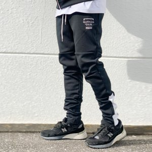 ゴッサム GOTHAM スキニージャージ SKINNY JERSEY PANTS ジョガーパンツ ブラック/ホワイト 黒 BLACK|mr-vibes