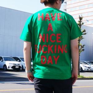 ゴッサム GOTHAM Tシャツ WHAT THE FUCK S/S Tee ベージュ グリーン GREEN 緑 半袖 GN604|mr-vibes
