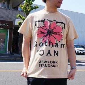 ゴッサム GOTHAM Tシャツ FLOWER S/S Tee ホワイト ベージュ 白 WHITE 半袖 GN602|mr-vibes