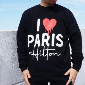 SALE セール 全2色 ゴッサム GOTHAM クルースウェット トレーナー I LOVE PARIS HILTON CREW ブラック グレー|mr-vibes