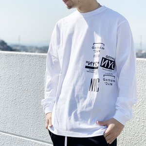 全2色 ゴッサム GOTHAM ロンT Tシャツ MULTI LOGO L/S Tee ホワイト WHITE 白 ブラック 黒 BLACK 長袖 GN765 mr-vibes