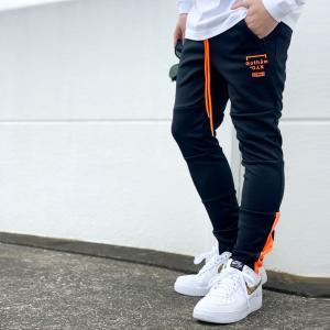 ゴッサム GOTHAM スキニージャージ SKINNY JERSEY PANTS ジョガーパンツ ブラック/オレンジ 黒 BLACK|mr-vibes