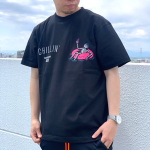 ゴッサム GOTHAM NYC Tシャツ CHILLIN S/S Tee ブラック 黒 BLACK GN824|mr-vibes