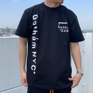 全2色 ゴッサム GOTHAM NYC Tシャツ GOTHAM NYC LOGO S/S Tee ホワイト 白 WHITE ブラック 黒 半袖 GN832|mr-vibes