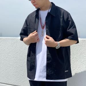 全4色 グラミチ GRAMICCI 半袖シャツ ナイロンシャツ SHELL CAMP SHIRT ブラック マスタード カモ ビーチレッド セットアップ GUJK-21S043|mr-vibes