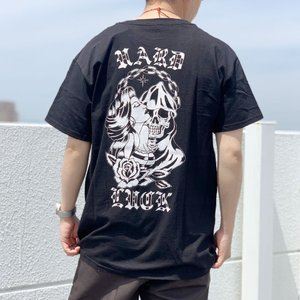 ハードラック HARD LUCK Tシャツ NOVIOS S/S Tee 半袖 バックプリント ブラック 黒 BLACK|mr-vibes