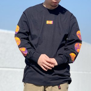 ハフ HUF ロンT CLIMATE MELTDOWN L/S Tee Tシャツ 長袖 ブラック 黒|mr-vibes
