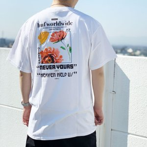 全2色 ハフ HUF Tシャツ NEVER YOURS S/S Tee 半袖 バックプリント ホワイト ブラック 白 黒|mr-vibes