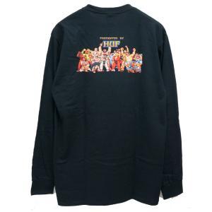ハフ HUF ロンT Tシャツ HUF × STREET FIGHTER ENDING L/S Tee ストリートファイター コラボ ブラック 黒 BLACK|mr-vibes