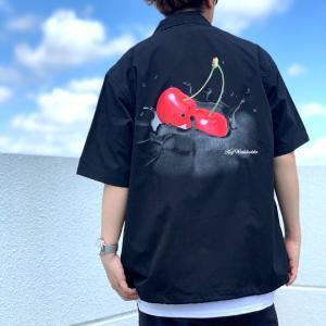 ハフ HUF 半袖シャツ WET CHERRY S/SL SHIRT ブラック 黒 バックプリント 正規店限定|mr-vibes
