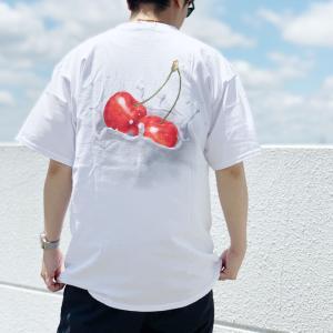 全2色 ハフ HUF Tシャツ WET CHERRY S/S Tee 半袖 ホワイト ブラック 白 黒 バックプリント|mr-vibes