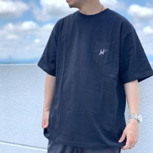 全2色 ハフ HUF Tシャツ SCRIPT POCKET S/SL TEE 半袖 ポケットTシャツ スクリプトロゴ ホワイト ブラック 白 黒 正規店限定|mr-vibes