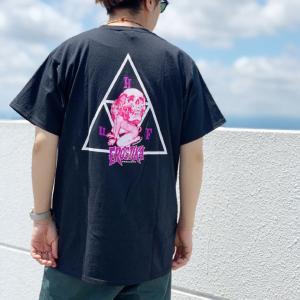 ハフ HUF Tシャツ ROCKIN JELLY BEAN TRIPLE TRIANGLE S/S TEE トリプルトライアングル 半袖 ブラック 黒 ロッキンジェリービーン|mr-vibes