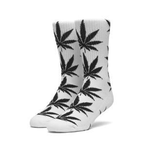 全2色 ハフ HUF ソックス 靴下 PLANT LIFE CREW SOCKS ホワイト 白 ブラック 黒 ハイソックス 定番|mr-vibes