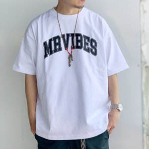 MRV by Mr.vibes Tシャツ MRVIBES COLLEGE LOGO S/S Tee オリジナル ミスターバイブス カレッジロゴ ホワイト 白 WHITE|mr-vibes