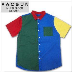 PAC SUN パックサン カラーブロックシャツ COLOR BLOCK S/S SHIRT 半袖シャツ マルチ mr-vibes