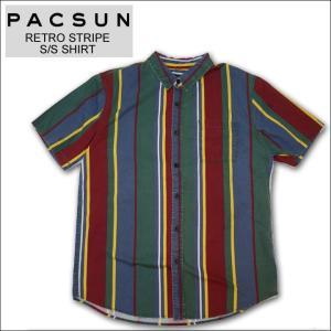 PAC SUN パックサン ストライプシャツ STRIPE S/S SHIRT 半袖シャツ マルチ mr-vibes