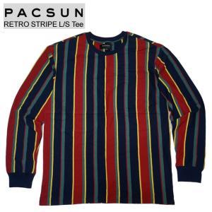 PAC SUN パックサン ストライプTシャツ RETRO STRIPE L/S Tee マルチ MULTI ロンT 長袖 mr-vibes