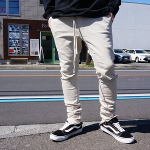 パックサン PAC SUN ジップジョガーパンツ DROP SKINNY JOGGER PANTS カーキ KHAKI FOG ESSENTIAL|mr-vibes