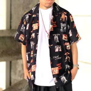 全2色 ポットミーツポップ POT MEETS POP 半袖シャツ ONLY THE BEST ALOHA SHIRT アロハシャツ 総柄  CHEECH&CHONG|mr-vibes