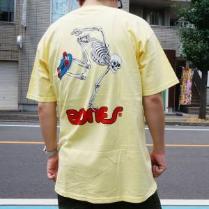 全3色 パウエルペラルタ POWELL PERALTA Tシャツ SKATEBOARD SKELTON S/S Tee スケルトン ホワイト ブラック イエロー 白 黒 黄色|mr-vibes