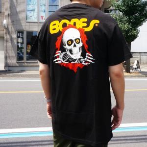 全2色 パウエルペラルタ POWELL PERALTA Tシャツ RIPPER S/S Tee スケルトン ホワイト ブラック 白 黒|mr-vibes