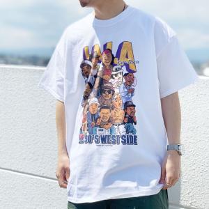 全3色 ラップアタック RAP ATTACK Tシャツ LA LA S/S Tee ロサンゼルス 西海岸 ラップTシャツ ホワイト 白 WHITE ブラック 黒 BLACK パープル 紫|mr-vibes