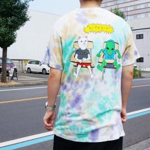 リップンディップ RIPNDIP Tシャツ BUDZ UP S/S Tee 半袖 タイダイ TIE DYE マルチカラー|mr-vibes